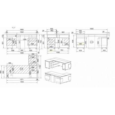 Офис модул 210 ъглово бюро 1600/1150 мм