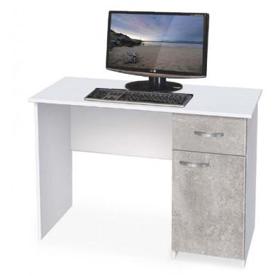 Бюро 3 бяло/ бетон