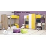 Комплект за детска стая с двуетажно легло Рики