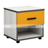 Мики модул 4 нощно шкафче - дъб крафт бял/оранжево