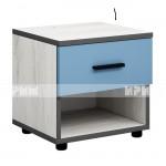 Мики модул 4 нощно шкафче - дъб крафт бял/синьо