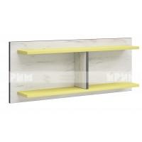 Мики модул 5 стенна етажерка - дъб крафт бял/жълто