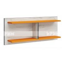 Мики модул 5 стенна етажерка - дъб крафт бял/оранжево