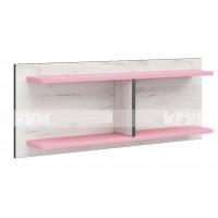Мики модул 5 стенна етажерка - дъб крафт бял/розово