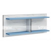Мики модул 5 стенна етажерка - дъб крафт бял/синьо