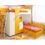 Детско двуетажно легло Фреш с гардероб