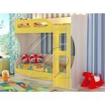 Детско двуетажно легло със стълба