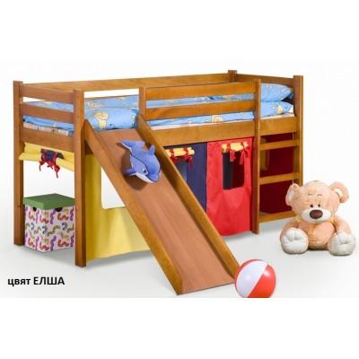 Детско легло с пързалка 121