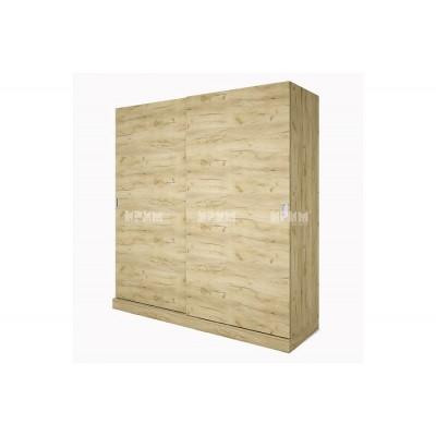 Двукрилен гардероб с външни плъзгащи врати City 1011