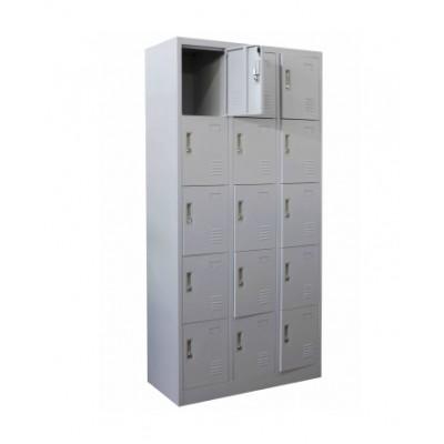 Метален гардероб с 15 отделения 90/45/185см