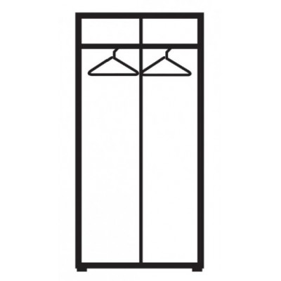 Бял двукрилен гардероб с огледало Ава 201