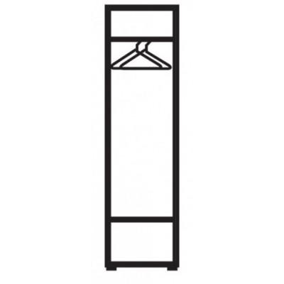 Бял еднокрилен гардероб с огледало Ава 11