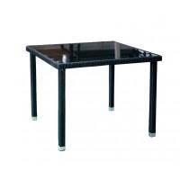 Градинска маса с изкуствен ратан HD