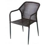 Градински стол от ратан 362 кафяв