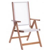Сгъваем дървен градински стол с подлакътници SVEN