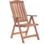 Сгъваем дървен градински стол с регулираща се облегалка и подлакътници IVAR