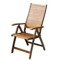 Сгъваем Дървен Стол 5 Позиционен Акация