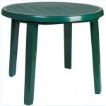 Кръгла пластмасова Маса Сиеста 125 цвят зелен