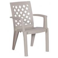 Пластмасов градински стол ERGUVAN капучино