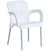 Пластмасов градински стол KIRCICEGI бял