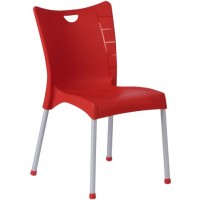 Пластмасов градински стол ACELYA червен