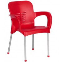 Пластмасов градински стол KIRCICEGI червен