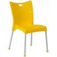 Пластмасов градински стол ACELYA жълт