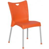 Пластмасов градински стол ACELYA оранжев