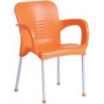 Пластмасов градински стол KIRCICEGI оранжев