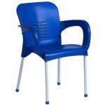 Пластмасов градински стол KIRCICEGI тъмно син