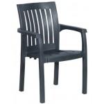 Пластмасов градински стол FESLEGEN тъмнозелен