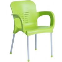 Пластмасов градински стол KIRCICEGI зелен