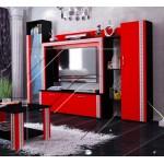 Етно холна секция червено и черно и подарък LED осветление