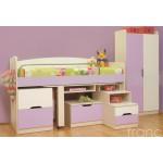 Обзавеждане за детска стая с високо легло Франсис