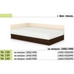 Легло 158 с повдигащ механизъм с амортисьори и прави табли в 3 размера