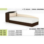 Легло 131 с повдигащ механизъм , скосени табли и ракла в 3 размера