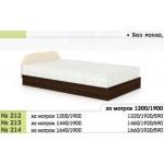 Легло 212 с повдигащи амортисьори и скосена табла в 3 размера
