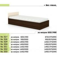 Легло 327 с повдигащи амортисьори и права табла в 7 размера