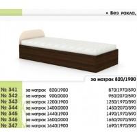 Легло 341 с повдигащи амортисьори и скосена табла в 7 размера