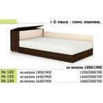 Легло 182 с повдигащи амортисьори, прави табли и ракла в 3 размера