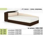 Легло 188 с повдигащи амортисьори, скосени табли и ракла в 3 размера