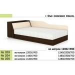Легло 203 с повдигащи амортисьори, извити табли и ракла в 3 размера