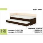 Легло тип Сандвич 709/710 с 2 бр. матраци - без ракла с права табла