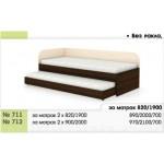 Легло тип Сандвич 711/712 с 2 бр. матраци - без ракла с извити табли