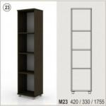 Холен шкаф - отворена етажерка Колт модул 23