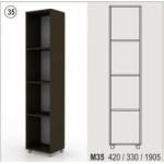 Холен шкаф - отворена етажерка 190 см Колт модул 35