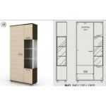 Комбиниран холен шкаф 190 см с гардероб Колт Модул 43