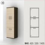 Холен шкаф с 3 плътни врати - стенен Колт модул 45