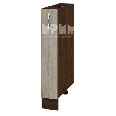CITY ВС - 41 кухненски долен шкаф бутилиера 15 см без горен плот