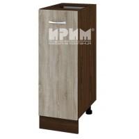 CITY ВС - 20 кухненски долен шкаф 30 см с врата и рафт (ляв/десен) без горен плот